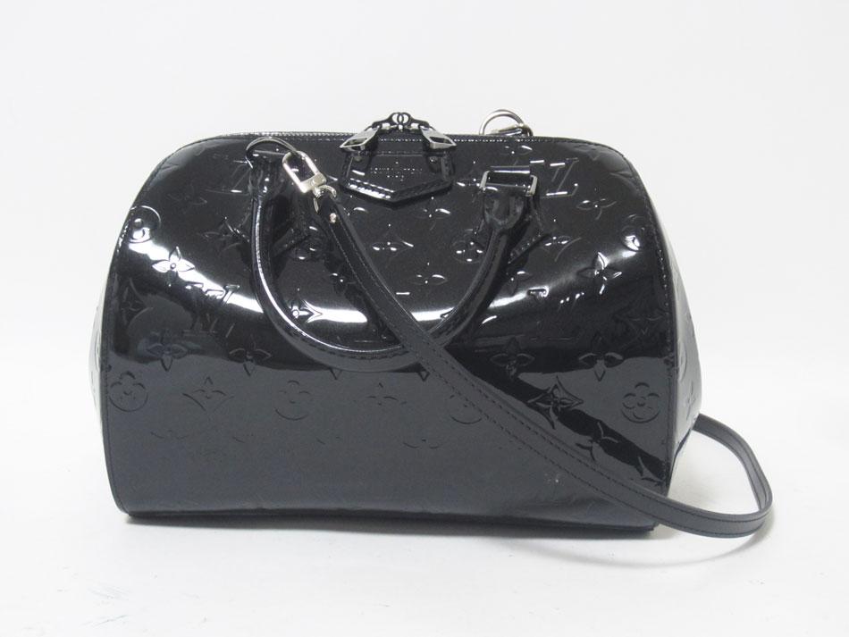 LOUIS VUITTON ルイヴィトン ヴェルニ ノワールマニエティック モンタナ ショルダーストラップ付き ハンドバッグ ボーリングバッグ M90060 美品 【中古】