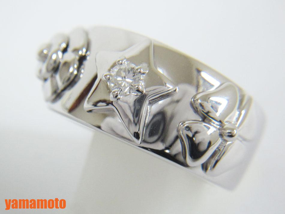CHANEL シャネル リング 指輪 ダイヤ スリーモチーフ カメリア スター フラワー 750 K18 WG ホワイトゴールド 美品【中古】