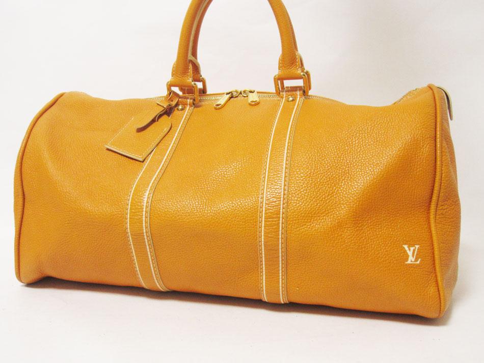 LOUIS VUITTON ルイヴィトン トバコ キーポル50 旅行バッグ ボストンバッグ レザー ジョーヌ イエロー レア品 M95138 美品【中古】