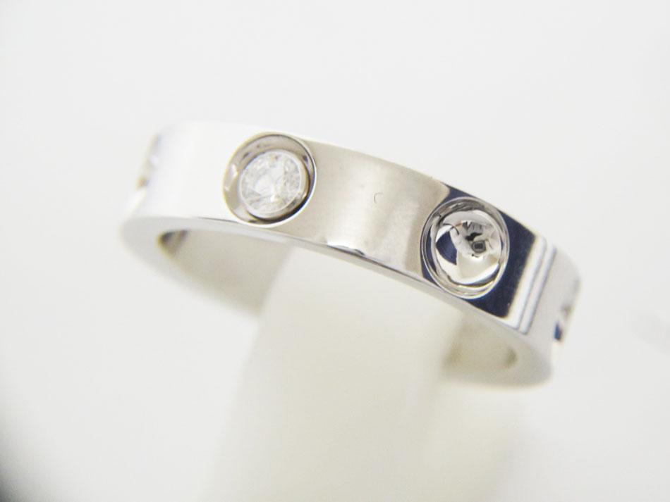LOUIS VUTTION ルイヴィトン プティットバーグアンプラント リング 指輪 750 WG K18 ホワイトゴールド ダイヤ 1P 57 新品仕上げ【中古】