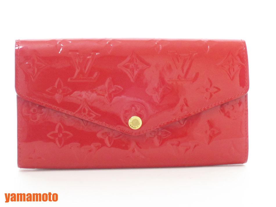 買得 ルイヴィトン ヴェルニ スリーズ レッド 赤 ポルトフォイユサラ 新型 長財布 2つ折り M90208 美品 新品同様【】, メンズファッション通販 LEADMEN ee8ae2dd