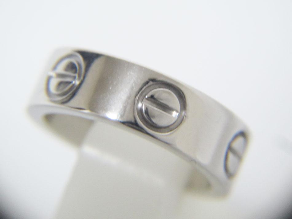 Cartier カルティエ ラブリング 指輪 リング レディース 750 K18 WG ホワイトゴールド 48 美品【中古】