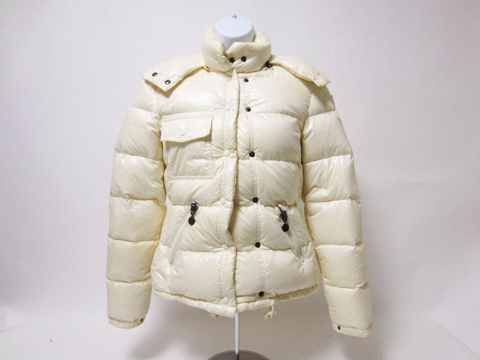 MONCLER モンクレール レディース ダウンジャケット ホワイト フード サイズ:0【中古】