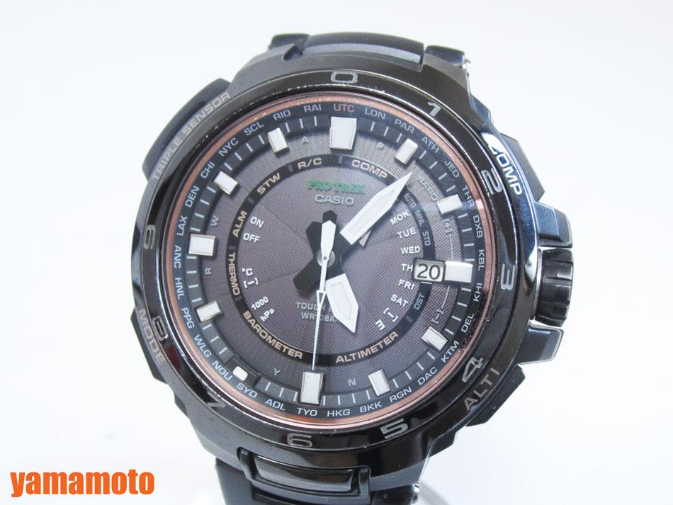 CASIO カシオ PROTREK プロトレック マナスル タフソーラー メンズウォッチ 電波 腕時計 PRX-7000YT-1JF【中古】