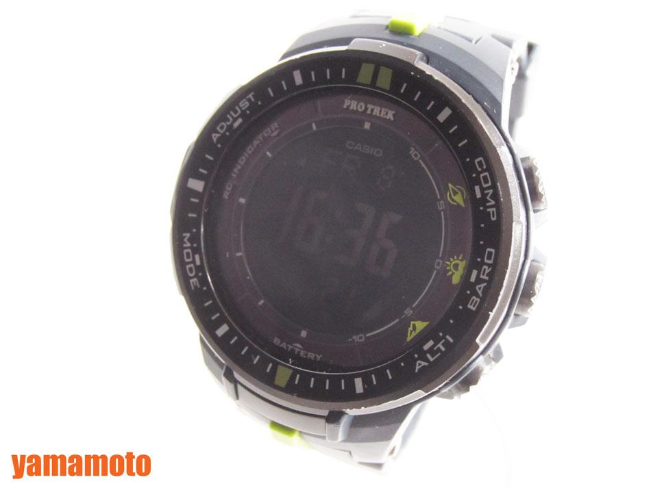 074205f8e9 CASIO カシオ PROTREK プロトレック 電波ソーラー メンズ 腕時計 デジタル マルチバンド PRW-3000-