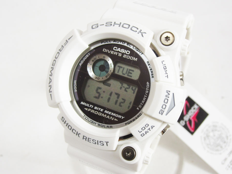 CASIO カシオ G-SHOCK Gショック FROGMAN フロッグマン メンズウォッチ 腕時計 タフソーラー イルクジ GW-206K-7JR 超美品【中古】