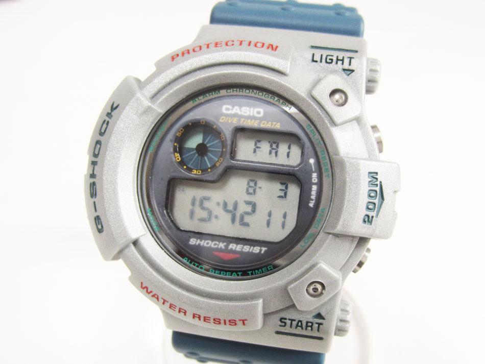 CASIO カシオ G-SHOCK Gショック FROGMAN フロッグマン メンズウォッチ 腕時計 DW-6300B-2 グレー ブルー 美品【中古】