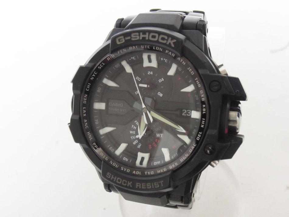 CASIO カシオ G-SHOCK Gショック SKYCOCKPIT スカイコックピット GRAVITYMASTER 腕時計 メンズウォッチ タフソーラー GW-A1000D-1AJF【中古】