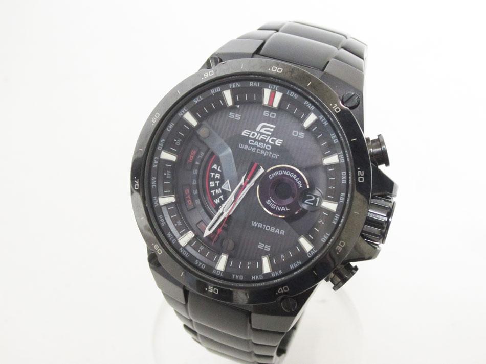CASIO カシオ EDIFICE エディフィス 腕時計 メンズウォッチ 電波ソーラー ブラック EQW-A1000DC-1AJF 美品【中古】