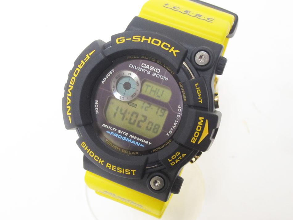 CASIO カシオ G-SHOCK Gショック FROGMAN フロッグマン メンズウォッチ 腕時計 タフソーラー イルクジ イエロー GW-204K-9JR 超美品【中古】
