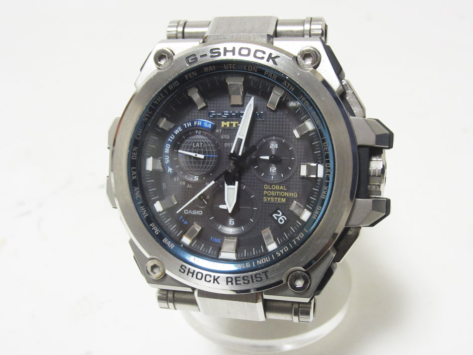CASIO カシオ G-SHOCK 受注生産品 MT-G 腕時計 中古 ソーラー電波 タフソーラー メンズウォッチ MTG-G1000D-1A2JF 評判