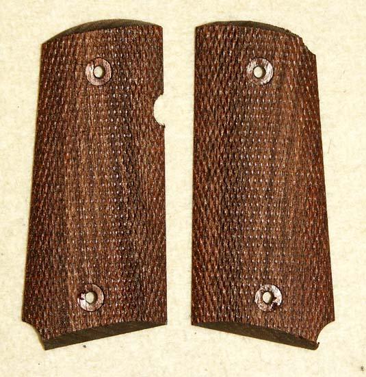 CAW マルイ デトニクス専用フルチェッカー木製グリップ(裏面ウェイト入り)