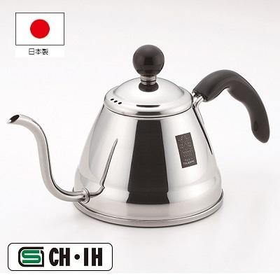 コーヒーを美味しく入れる為にお湯を細かく注ぐことができる細口ケトル ガスはもちろんIH にも効率よく使えます 送料無料 代引き不可商品 今だけスーパーセール限定 新商品 新型 コーヒードリップポット1.0#8467; フィーノ