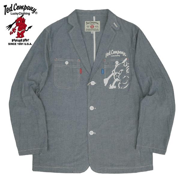 セール TEDMAN'S #TSJK-102 シャツジャケット 【ネイビーブルー】【TKA】