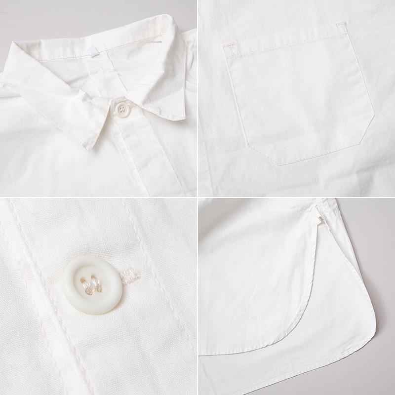 スウェーデン軍タイプ グランパシャツ 2ボタン 半袖 新品