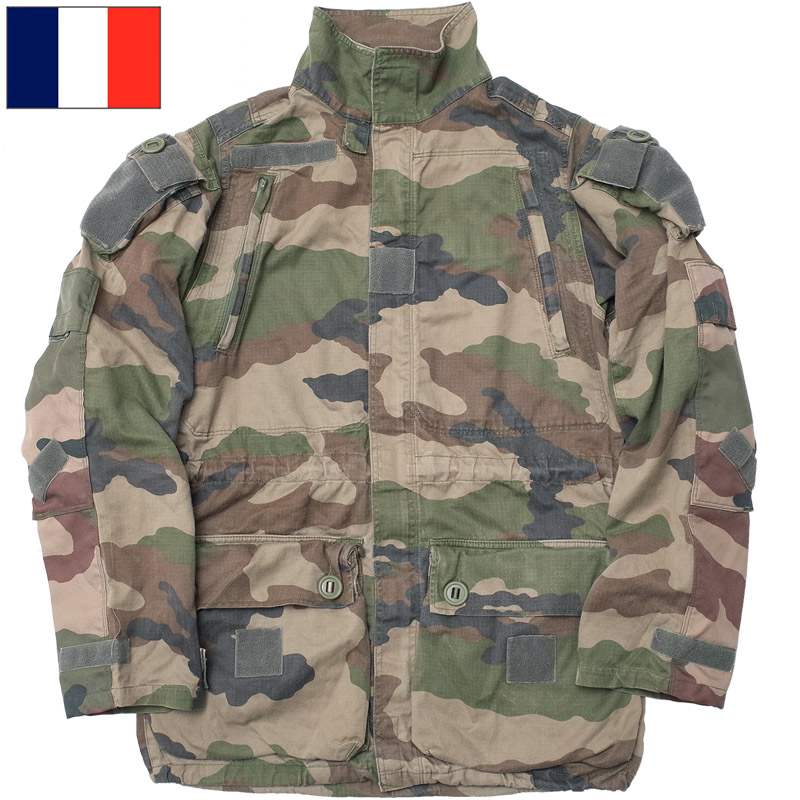 ノベルティープレゼント フランス軍 FELIN T4 コンバットジャケット CCEカモ USED 【送料無料・沖縄・離島除く】