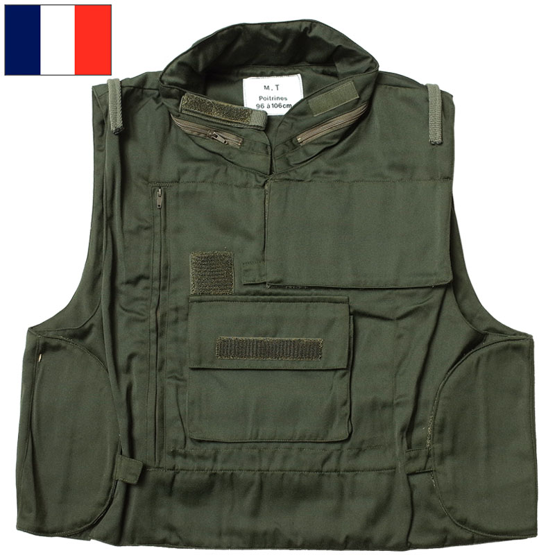フランス軍 販売実績No.1 フラグレーション ベスト デッドストック オリーブ ブランド激安セール会場