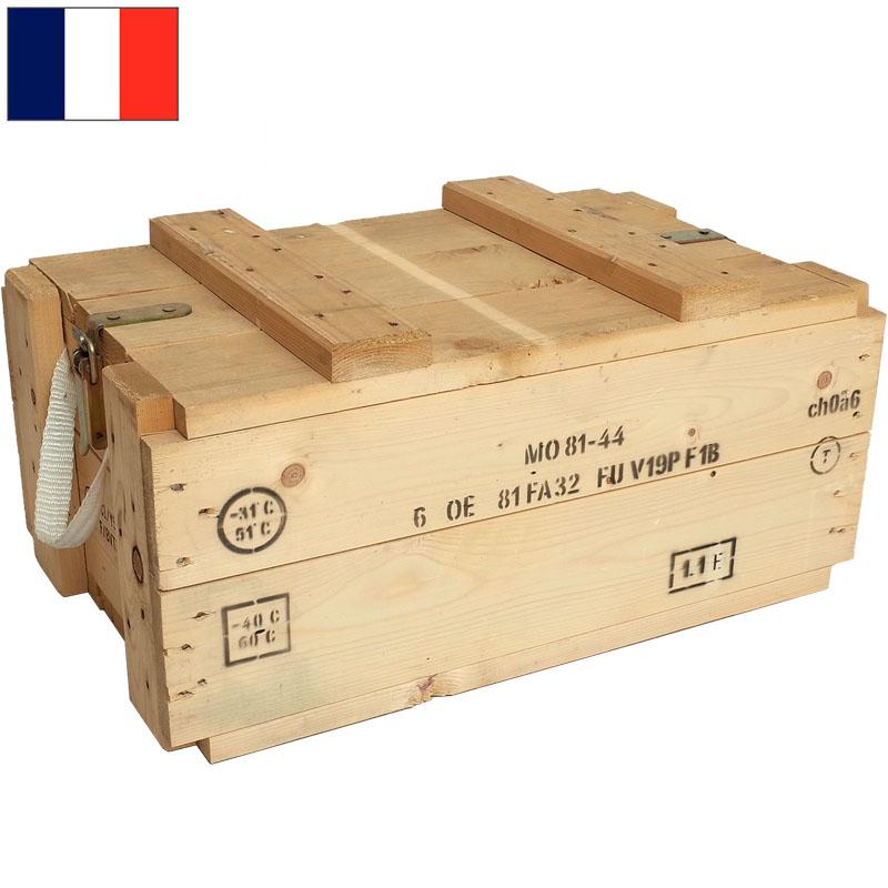 セール中 フランス軍 アンモボックス ウッド USED