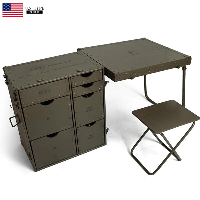 YMCLKYオリジナル 米軍タイプ フォールディング ウッドデスク