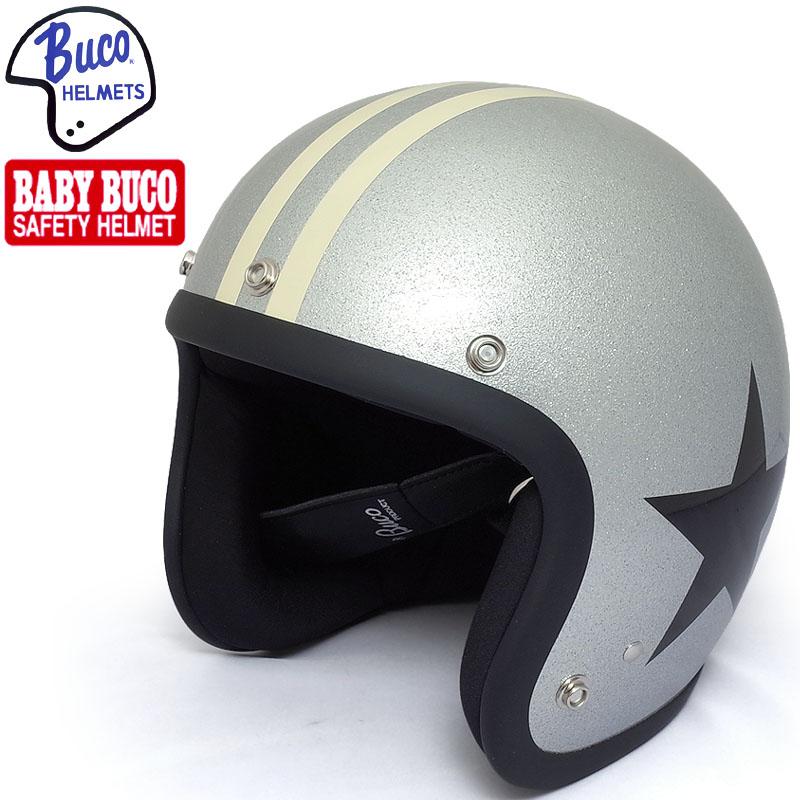 sale BUCO BABY BUCO レイト 60's スタイル ワイルド ワン モデル ジェットヘルメット シルバー S/M-M/L