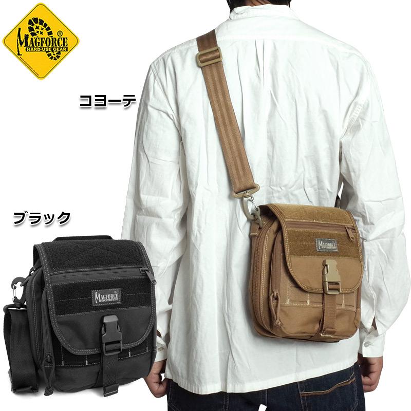 sale MAGFORCE #MF-0339 デタッチャブル ユーティリティ ポーチ ショルダーバッグ メンズ レディース 2色