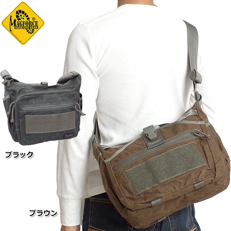 sale MAGFORCE #MF-W0498 ジェミニ スリング バッグ ワックスコットン ショルダーバッグ全2色