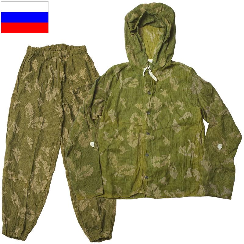 sale ロシア軍 KZS メッシュ スナイパースーツ デッドストック パーカー パンツ 上下セット BEREZKA ベリョーズカ迷彩