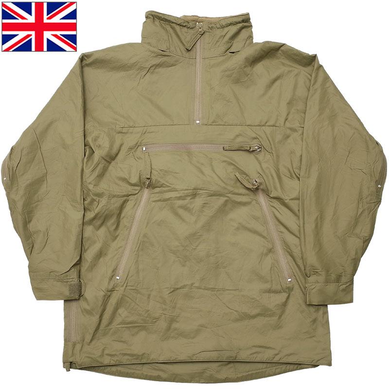 イギリス軍 PCS サーマル ジャケット ライトオリーブ デッドストック JJ275NN アウター スモック パーカー プルオーバー フード付き 防寒 フリース コンバット フィールド 戦闘服