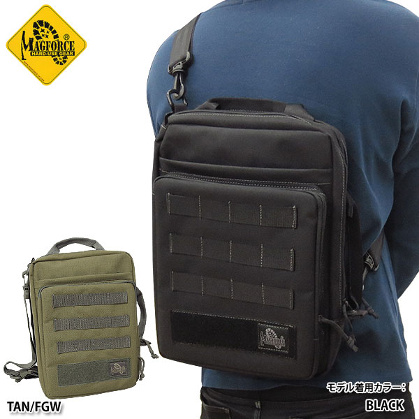 sale MAGFORCE #MF-6606Laptop Sling Bag ショルダーバッグ【BLACK】【TAN/FGW】