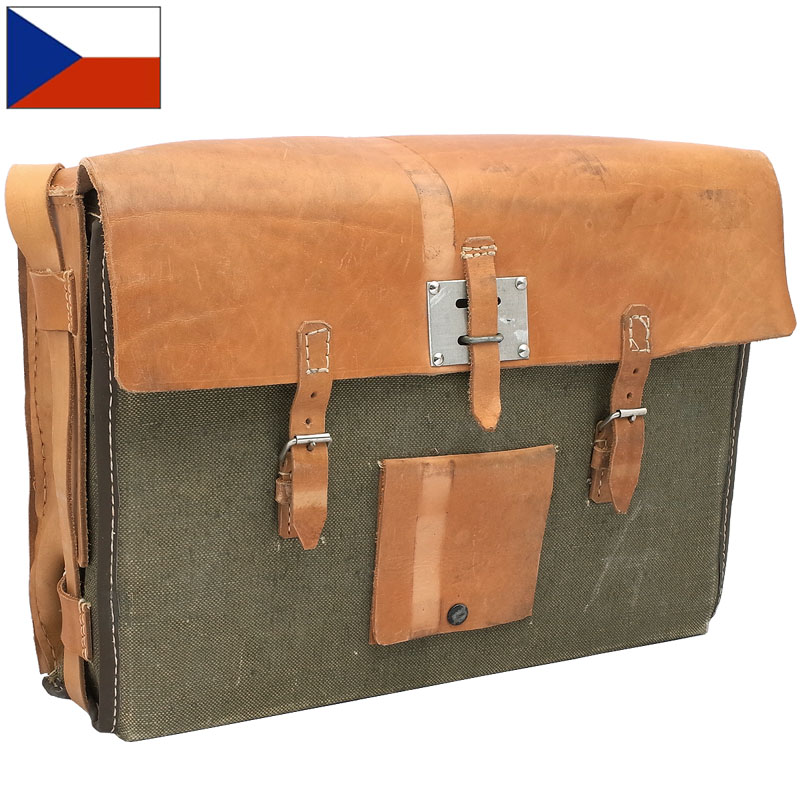 sale チェコ軍 パイオニア キャンバス レザー ショルダーバッグ デッドストック BS181NN 実物 鞄 カバン BAG 工兵
