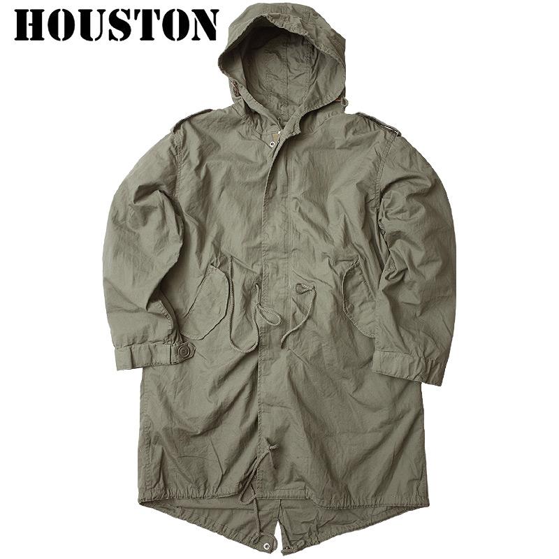 HOUSTON #5409M M-51 パーカー ライナー付 OD ヒューストン モッズコート 返品・交換不可【TKA】