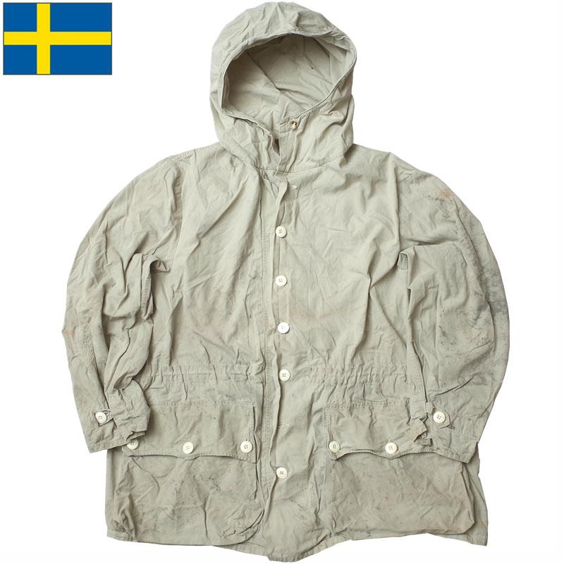 スウェーデン軍 M-62 USED 大人気 お中元 スノーカモパーカー