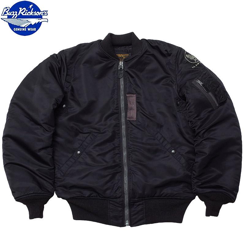 BUZZ RICKSON'S バズリクソンズ #BR12667 BLACK MA-1 SLENDER LONG フライトジャケット スリム ロング WILLIAM GIBSON COLLECTION メンズ MA1 ミリジャケ ウィリアムギブソンコレクション ブラック ブルゾン