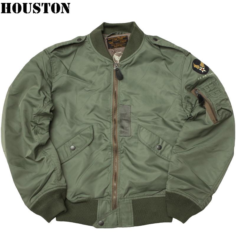 sale HOUSTON #5L-2BX L-2B フライトジャケット L2B ブルゾン メンズ ライトゾーン カジュアル ミリタリー ミリジャケ 春夏 春先 スプリング