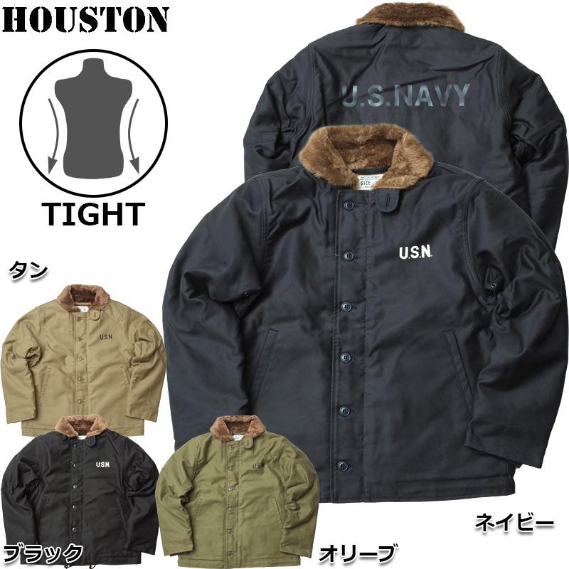 sale HOUSTON #5N-1X N-1デッキジャケット タイトモデル ステンシル メンズ 全4色 34-44