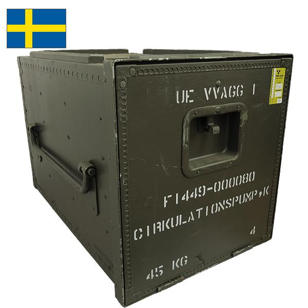 セール中 ノベルティープレゼント スウェーデン軍メディカルウッドボックス 40x42x62cm