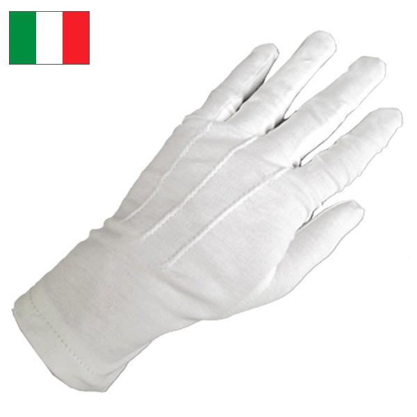 メール便OK ミリタリー 手袋 綿 1点ならメール便可 {TKA} コットン デッドストック オフィサーグローブ イタリア軍 セール価格 高級品