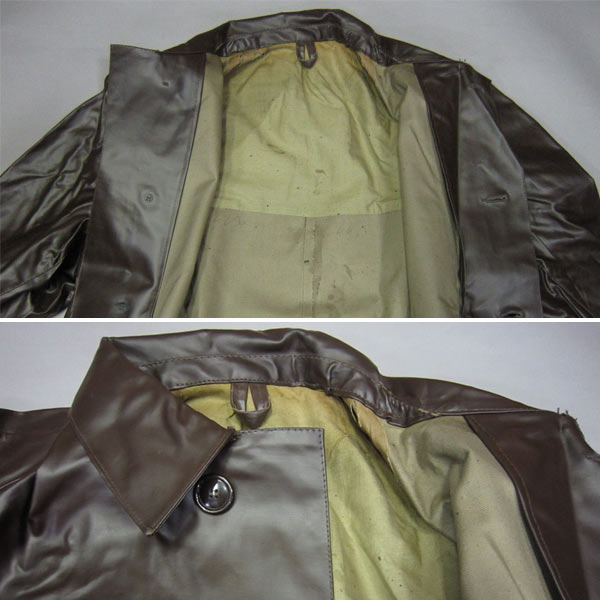 Czech military rubber shortstop raincoat dead stock