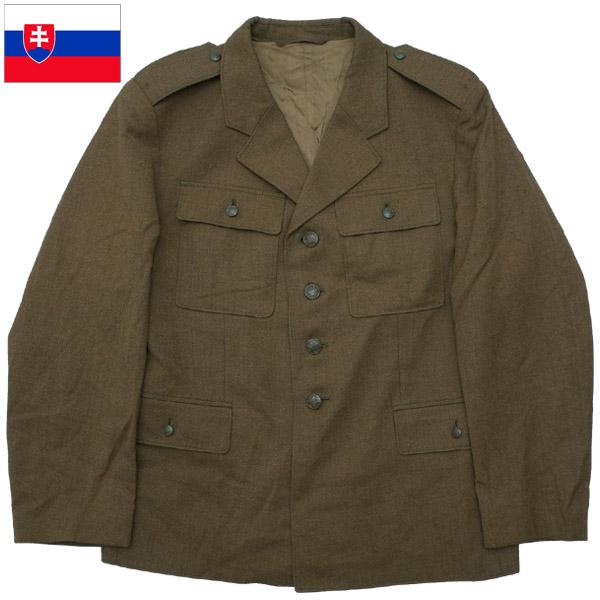 実物 ミリタリー 制服 ジャケット JKT チェコスロバキア 4年保証 ブラウン 往復送料無料 スロバキア軍 M63 ユニフォーム