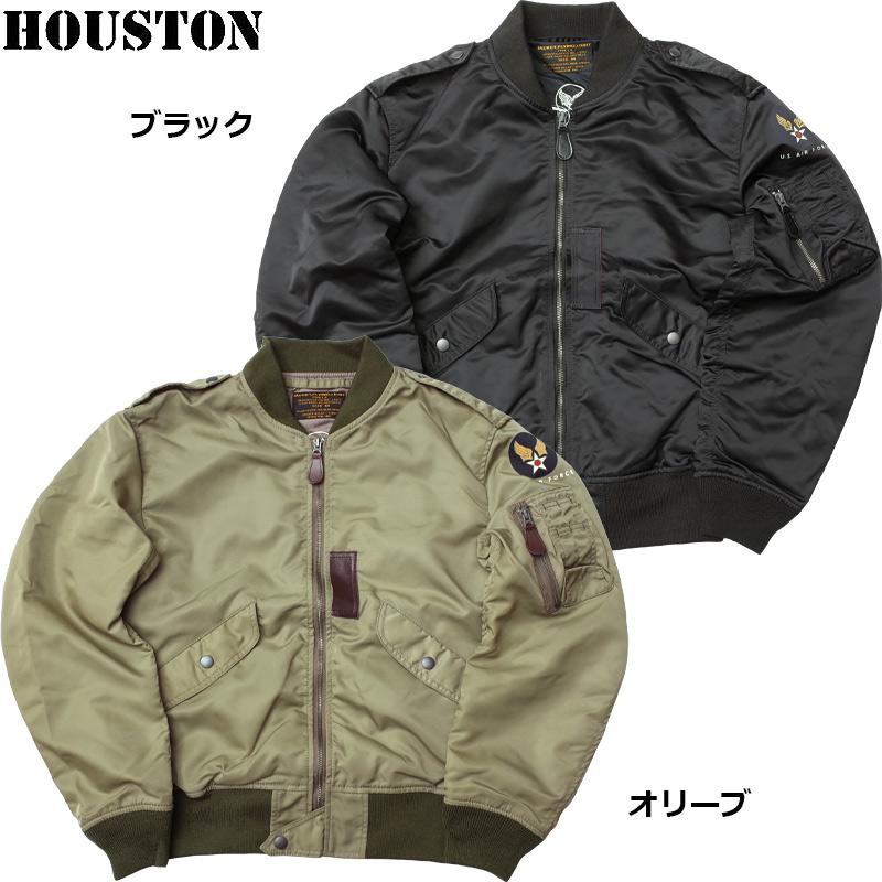 sale HOUSTON #5L-2X L-2 フライトジャケット L2 ブルゾン メンズ ライトゾーン カジュアル ミリタリー ミリジャケ 春夏 春先 スプリング