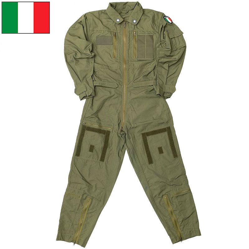 実物ミリタリー つなぎ ツナギ 期間限定 フライトスーツ イタリア軍 人気急上昇 フライトカバーオール オリーブ ノーメックス デッドストック