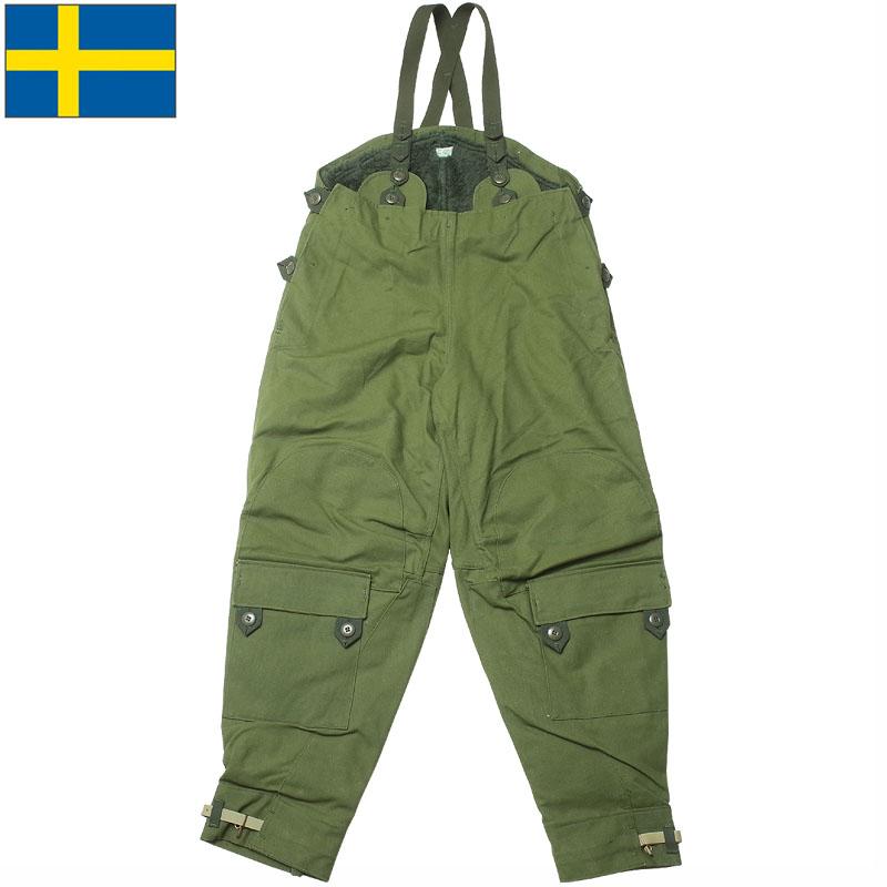 sale スウェーデン軍 モーターサイクルパンツ ライナー付き グリーン デッドストック PP270NN