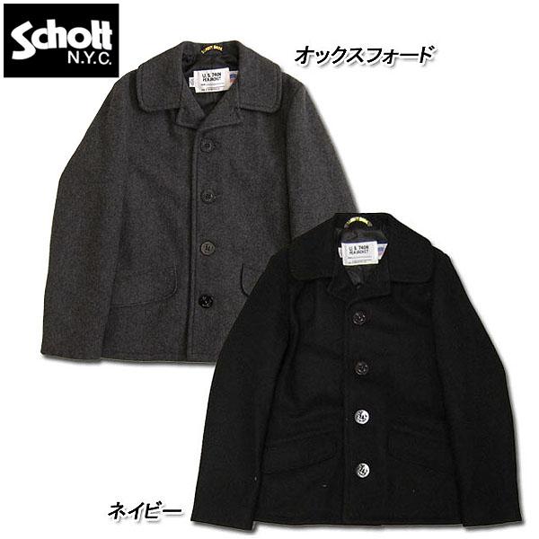 Schott #7178 SCH-756 US SINGLE Pコート【016オックスフォード】【087ネイビー】【日本正規販売店】 返品・交換不可【TKA】