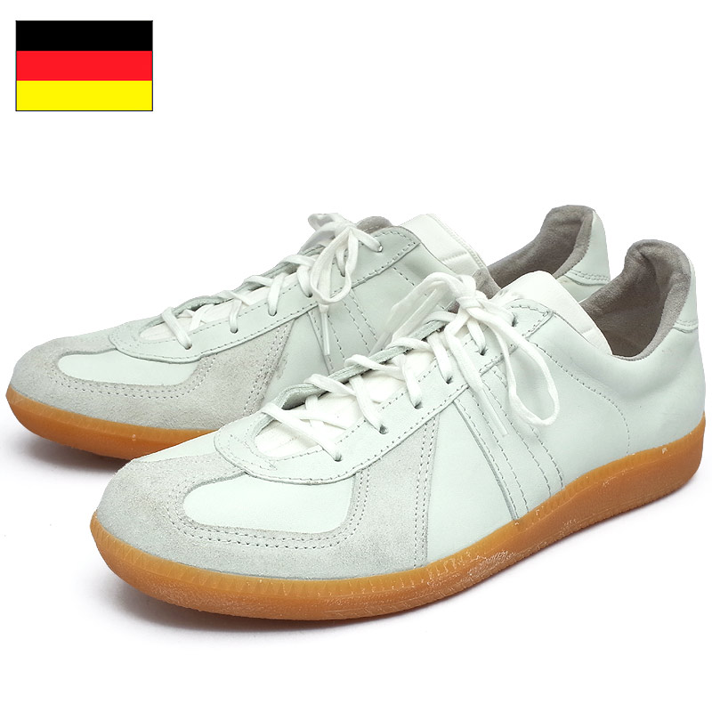 ドイツ軍 当店は最高な サービスを提供します トレーニングシューズ ホワイト 新登場 デッドストック レザー スニーカー 靴 BW