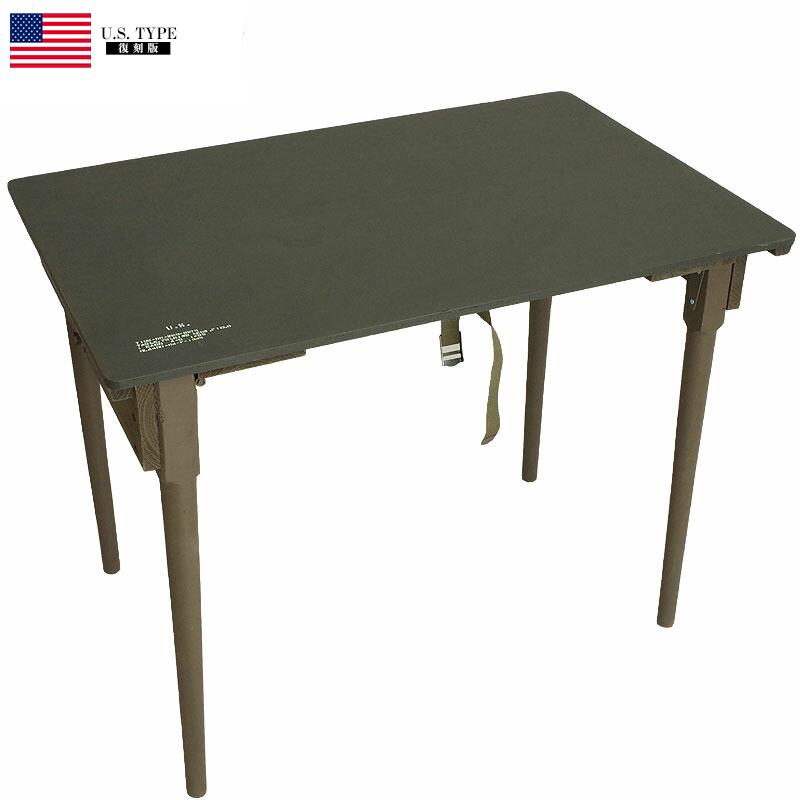 YMCLKYオリジナル 米軍タイプ 野戦 フォールディング ウッドテーブル オリーブ 新品