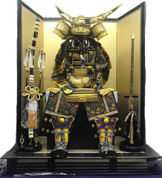 【着用鎧】30号 伊達政宗 子供着用鎧 飾台 屏風 弓太刀 セット