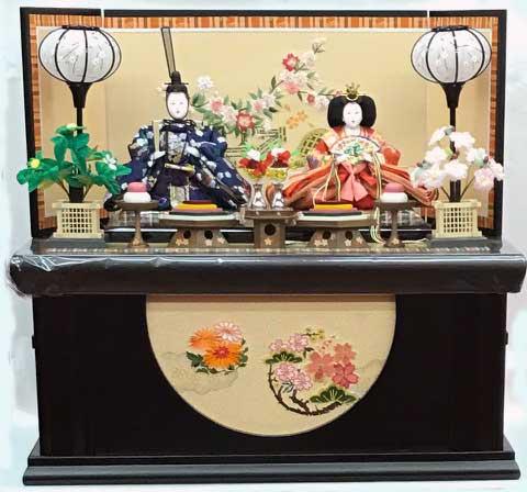 雛人形 収納飾り 三五親王 垣根と桜刺繍