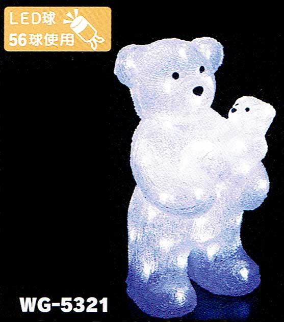 LEDクリスタルモチーフペアベア