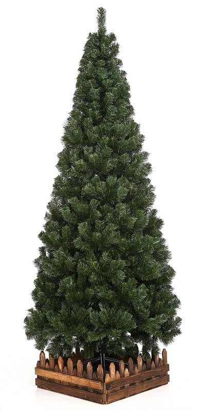 180cmスリム濃緑 2年保証高級クリスマスツリー木枠&シート付【クリスマスツリー スリム】