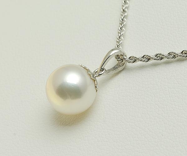 【真珠の本場 伊勢志摩よりお届け】花珠クラスの深みある輝き♪9.5mmあこや本真珠プラチナペンダントトップ 【n0132】【smtb-TK】
